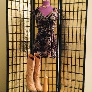 Dresses & Skirts - Multi Colored Printed Mini Dress